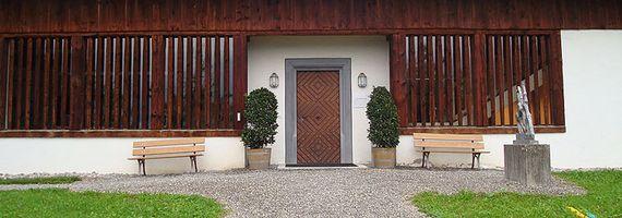 Eingang Kantonsbibliothek Schwyz