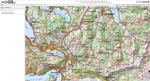 Wanderwege WebGIS Screenshot