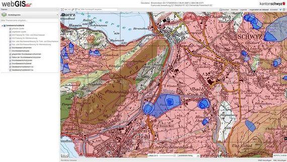 Gewässerschutzkarte